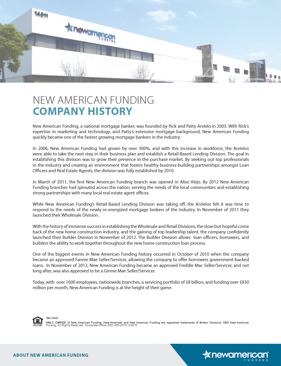 New American, About New American Funding, Home Loans by Sean Young, Home Loans by Sean Young